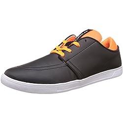 Nivia Men's Black and Orange Sneakers - 10 UK/India (43 EU)(4975)