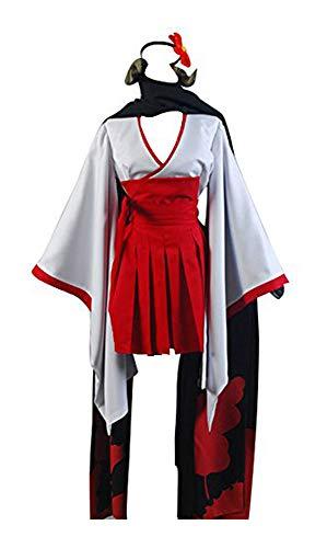 Kostüm Boku X Cosplay Inu Ss - FUMAN Inu x Boku SS Shirakiin Ririchiyo Youkai Mädchen Uniform Connichi Cosplay Kostüm Weiß