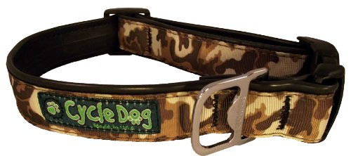 Cycle Dog Hundehalsband, Flasche Öffner recyceltem, braun camo, groß