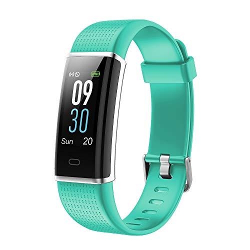 YAMAY Fitness Armband,Wasserdicht IP68 Fitness Tracker mit Pulsmesser 0,96 Zoll Farbbildschirm Aktivitätstracker Fitness Uhr Smartwatch Pulsuhren fitnessband Schrittzähler Uhr für Damen Herren -
