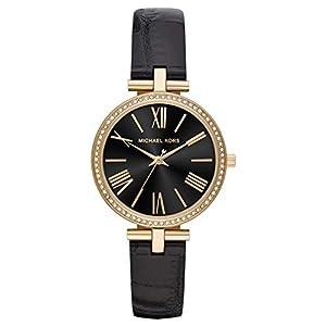 Michael Kors Reloj Analógico para Mujer de Cuarzo con Correa en Cuero