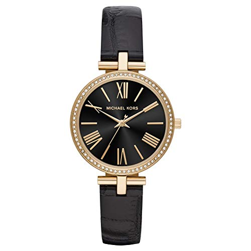Michael Kors Damen Analog Quarz Uhr mit Leder Armband MK2789