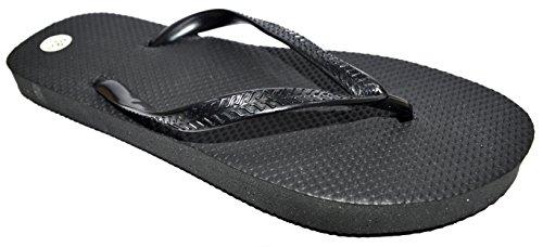 OCTAVE?, infradito da uomo, estive e da spiaggia Solid Plain Design - nero Numero Di Scarpe Uomo: 41 EU
