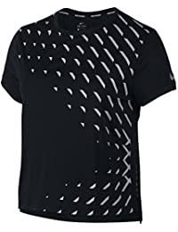 Nike W Nk Brthe Sp17 City Ss Camiseta de Manga Corta, Mujer, Negro (Black), XS