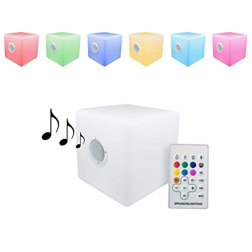 Cubo led luminoso 30x30cm altavoz bluetooth portátil cambio de color ENTREGA 1-3 DÍAS