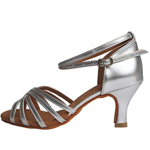 VASHCAME-Zapatos Baile Latino Tacón Alto/Medio Mujer