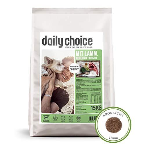 daily choice Basic | 15 kg | Trockenfutter für Hunde | mit Lamm, Reis und Erbsen | Keine minderwertigen Kohlenhydrate | Weizenfrei | Mit Grünlippmuschel und Chicorée