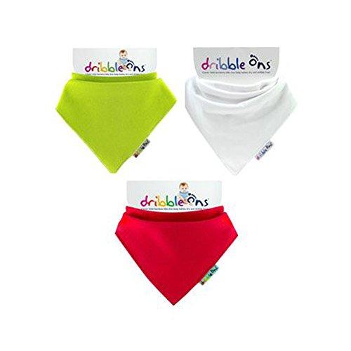 Dribbeln-zubehör Weihnachten Halstuch-lätzchen - Rot, grün & weiß - 3ER PACK (Geschenkverpackung Verfügbar) -