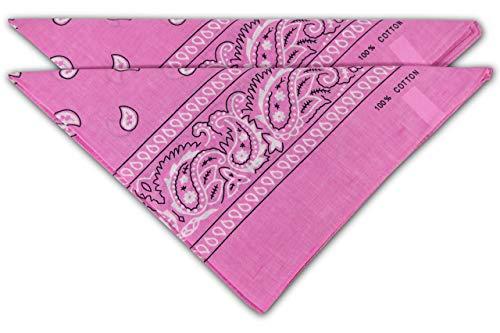 FashionCHIMP Nicki-Halstuch aus 100% Baumwolle im 2er Set, Unisex Bandana, AZO-Frei (Rosa)