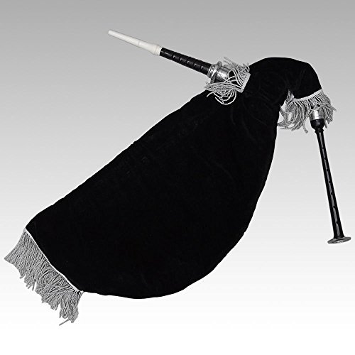 escocs-ganso-prcticas-gaita-nuevo-negro-piezas-montaje-plata-terciopelo-negro-bolsa