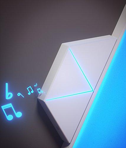 nanoleaf Light Panels (Aurora) Rhythm Musik & Sound Nachrüstmodul [Plug and Play | Faszinierende Effekte | Mikrofon & 3,5mm Klinkenanschluss] - 3