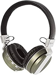 ZAKK Hunter Wireless and Wired Bluetooth Over Ear Headphones Black/Green, Microphone, Hands Free, Supports FM