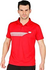 Vector X Printed Men's Polo Neck Red T-Shirt