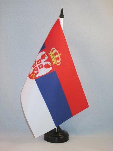 AZ FLAG Bandera de Mesa de Montenegro 21x14cm BANDERINA de DESPACHO MONTENEGRINA 14 x 21 cm