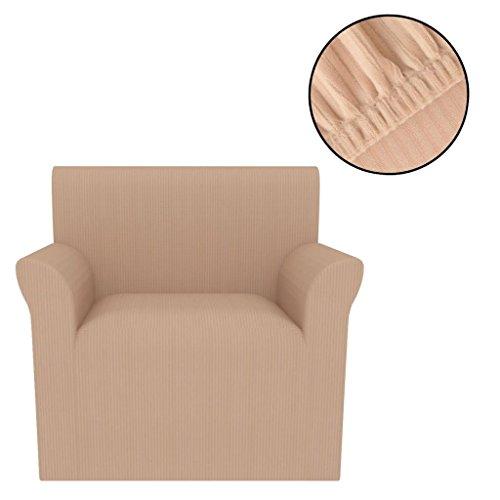 XINGLIEU Elastischer Sesselbezug, Stoff, Polyester, Gestrickt, Beige