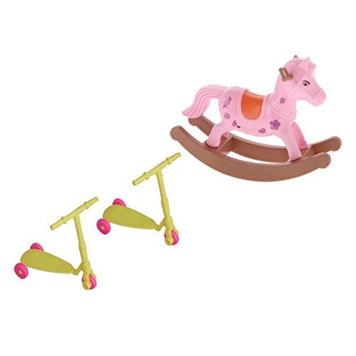 Baoblaze Miniatur Puppenmöbel aus Kunststoff Für 1/6 Puppenhaus Kinderzimmer Wohnzimmer Schlafzimmer Badezimmer Dekoration - # B (Mädchen-haus-etagenbett)