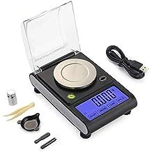 LAUERTHGB Básculas Digital Milligram Scale 50g X 0.001g Precisión Laboratorio Equilibrio Peso Recarga Lab Pems