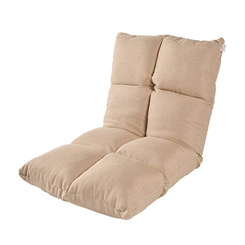 GHM Campingstuhl 7 Dateien Einstellbare Boden Stuhl Faltbare Bay Windo Stühle Einzel Sofa Sandy Beach Freizeit Recliners (Farbe : Khaki) -