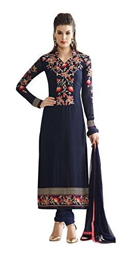 Vasu Saree Wonderful Georgette Navy Blue Salwar Suit