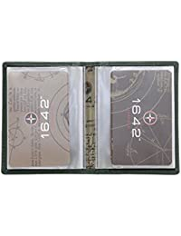 1642 Porte-carte de crédit en cuir Style 5005_17 noir
