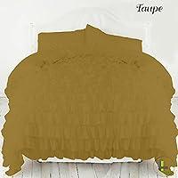 800TC egiziano 100% cotone elegante finitura 3pcs Ruffle Duvet Set