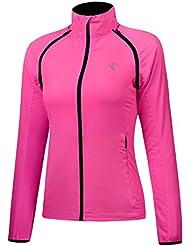 RunAlp Vestes anti-Pluie Femmes Cyclisme Manteau Amovible Imperméable à l'eau Vestes légères Imperméables (Taille: S-XL)