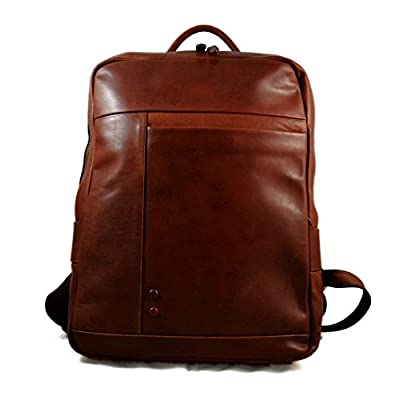 Leather backpack genuine leather travel bag weekender sports bag gym bag leather shoulder ladies mens satchel light backpack brown - handmade-bags