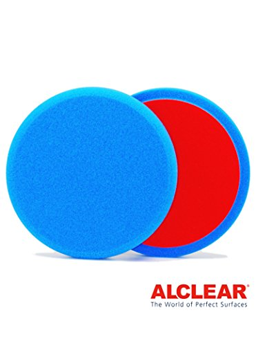 ALCLEAR 5516030B Schleifpad, Medium, Durchmesser : 160 x 30 mm, blau ,2er Set