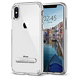 Spigen Funda iPhone X, [Ultra Hybrid S] De amortiguación de Aire y Soporte de Metal magnético para iPhone X (2017) [Transparente] (B074CMHVKY) | Amazon price tracker / tracking, Amazon price history charts, Amazon price watches, Amazon price drop alerts