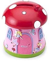 Questo grazioso salvadanaio a tema funghetto della principessa è ideale come regalo per maschietti e femminucce. Le pareti della casetta sono rosa, mentre il tetto richiama il cappello di un fungo ed è in uno splendido rosso. Ampia fessura pe...