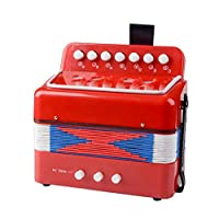 MaylFre 1 Set Kids Mini Accordion Multi Function Parenting Childrens Early Learning Musical Toys Accordion Instrument Kids Educational Musical Instrument Red