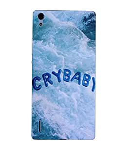 Takkloo crybaby sea side,cover for baby lover, beautiful cover) Printed Designer Back Case Cover for Huawei Ascend P7