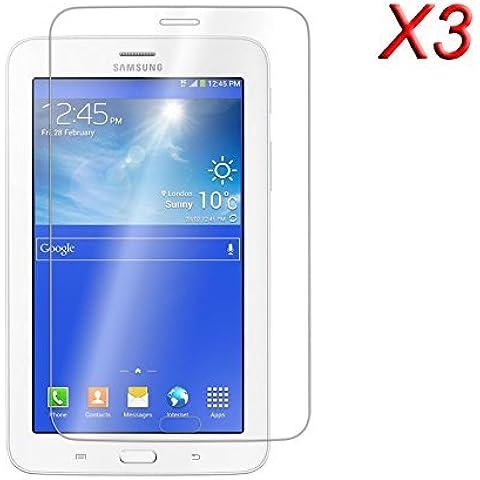 3 x Infiland Prime Protector de Pantalla para Samsung Galaxy Tab 3 7.0 Lite - Prima Crystal HD Clear resistente del rasguño paraSamsung Galaxy Tab 3 7.0 Lite T110 T111 (7 Pulgadas) Tablet(Clear - 3