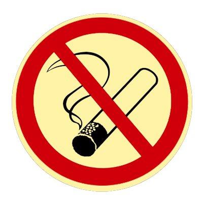 """"""" Rauchen Verboten """" Verbotszeichen - Verbotsschild Kunststoff nachleuchtend selbstklebend 200 mm"""