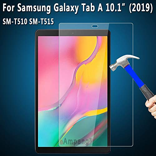 Preisvergleich Produktbild HAMISS Screen Protector Tempered Glass for for Samsung Galaxy Tab A 10.1 2019 SM-T515 SM-T510 T515 T510 Tablet Protective Glass 9H HD 0.33