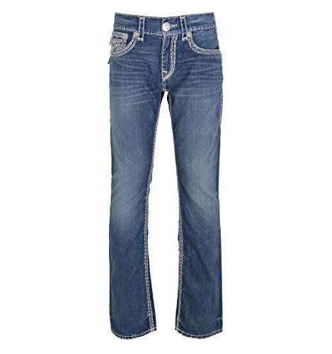 "True Religion Natural Super QT Desperado Straight Fit Jeans- 34"" Waist / 34"" Leg"