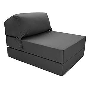 41DplId98ZL. SS300  - Gilda JAZZ CHAIRBED - Deluxe Single Chair z Bed Futon (Graphite)