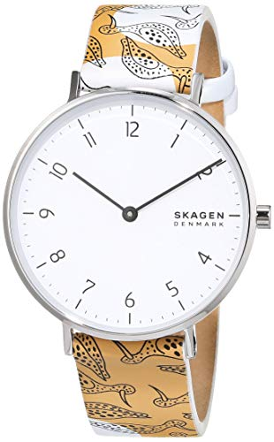 Skagen Damen Analog Quarz Uhr mit Leder Armband SKW2780