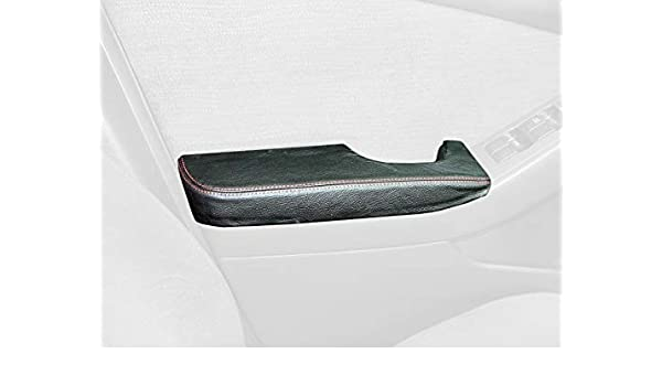 RedlineGoods Front Door armrest Covers Compatible with Nissan Altima 2007-12 Black Perforated Leather-Black Thread
