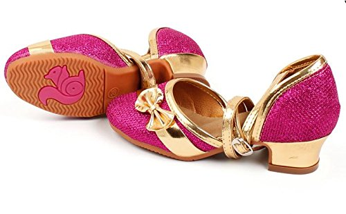 Enfants / adultes Chaussures de danse latine chaussures Danse latine spectacles montrent chaussures Rose