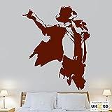 Michael Jackson Sänger Tänzerin Künstler Cool Wall Art Aufkleber Aufkleber Vinyl-Raum Schlafzimmer Jungen Mädchen Kinder Erwachsene Heim Wohnzimmer Zitate Küche Badezimmer Wandaufkleber