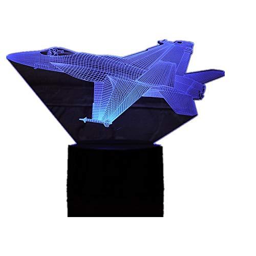 Wangzj 3d 7 farbe lampe/visuelle led nachtlichter/kinder touch usb tisch lampara lampe baby schlafen nachtlicht kingchip flugzeug (7 Pool-tisch)