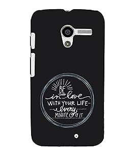 EPICCASE Be in Love Mobile Back Case Cover For Moto X (Designer Case)