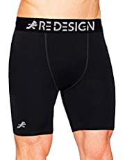 ReDesign Apparels Men's Compression Nylon Shorts Tights