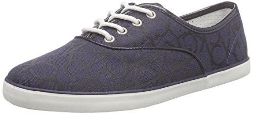 Calvin Klein JeansRea CK Logo Jacquard/Patent - Scarpe da Ginnastica Basse Donna, Blu (Blau (BBM)), 39 EU