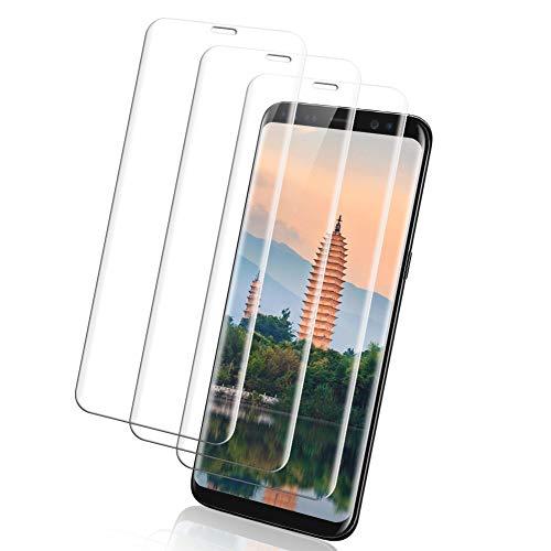 Yompz [3 Pack] Vetro Temperato Samsung Galaxy S8, Pellicola Protettiva per Samsung S8, [3D Copertura Completa][Durezza 9H][Anti Graffi] Protezione Schermo Galaxy S8 Trasparente