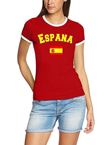 Spanien T-Shirt Damen Rot, Gr.M