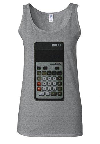 Calculator Calculation Account Tumblr Blogger White Women Vest Tank Top Spotif Gris