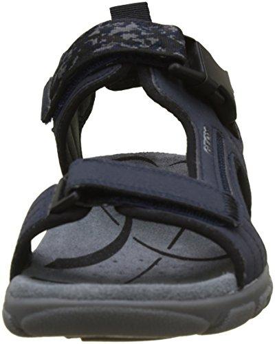 Geox Herren Uomo Sandal Strada A Riemchensandalen Blau (Navy)