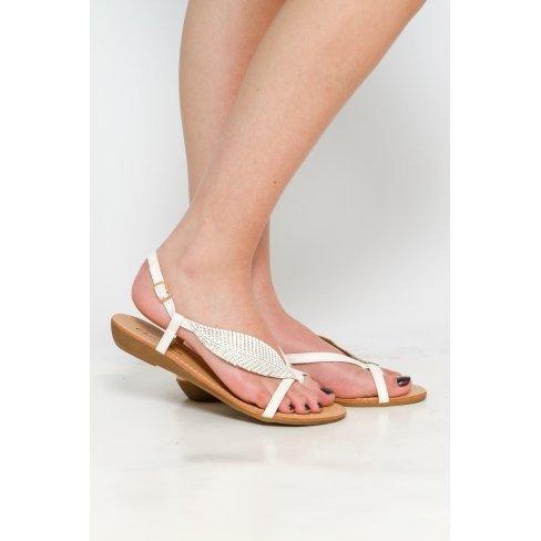 Princesse boutique - Sandales blanches à strass